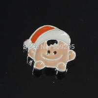 2014 Fashion 12mm Christmas Boy Head Floating Charms for Living Locket 20pcs/lot F373
