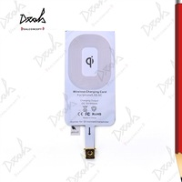 High Quality Ultra Thin Qi Wireless Charger Receiver for iPhone 5 5S 5C Charging Coil Accept 20Pcs/Lot DHL Free Shipping