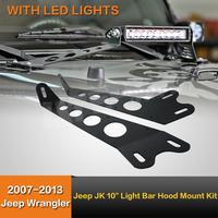 "JK -HM-10"" Led Light Bar Hood Mount Kit for jeep"