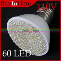 New High Power 3W 60 LED Warm/Cool White Spotlight Downlight Light Energy Saving Lamp Bulb E27 base 110V AC