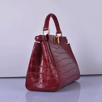 hot sale women's brand cross-body bag imported alligotar pattern cow leather  NO.2817