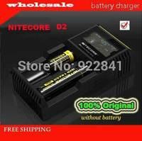 2014 New Nitecore D2 Digicharger LCD Display Battery Charger Universal NiteCore Charger Fit Li-ion/LifeP04/Ni-MH/Ni-Cd Batteries