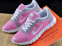 Free shipping - the new 2014 women large leisure sports shoes low net surface breathable plus-size shoes