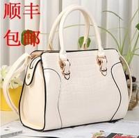Fashion for Crocodile 2014 japanned leather shaping women's handbag one shoulder women's handbag cross-body bag