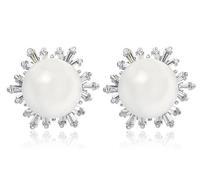 18k white gold plated earrings for female CZ crystal stud earring for women crystal earrings fashion earrings 2014 M612