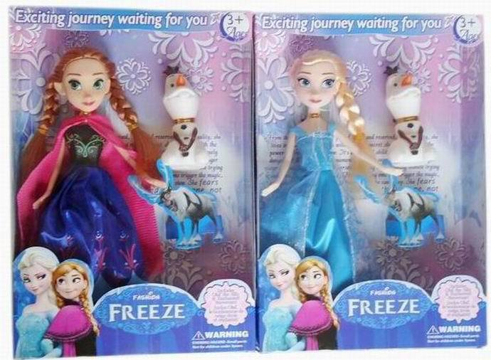 2014 New Cartoon Anna Elsa Olaf Doll 24cm Action Figures Girl kids Children Gift classic Doll toys Boneca with details box(China (Mainland))