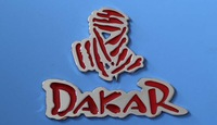 Car sticker personality metal Dakar post 3 d body personality car decorative metal modified standard