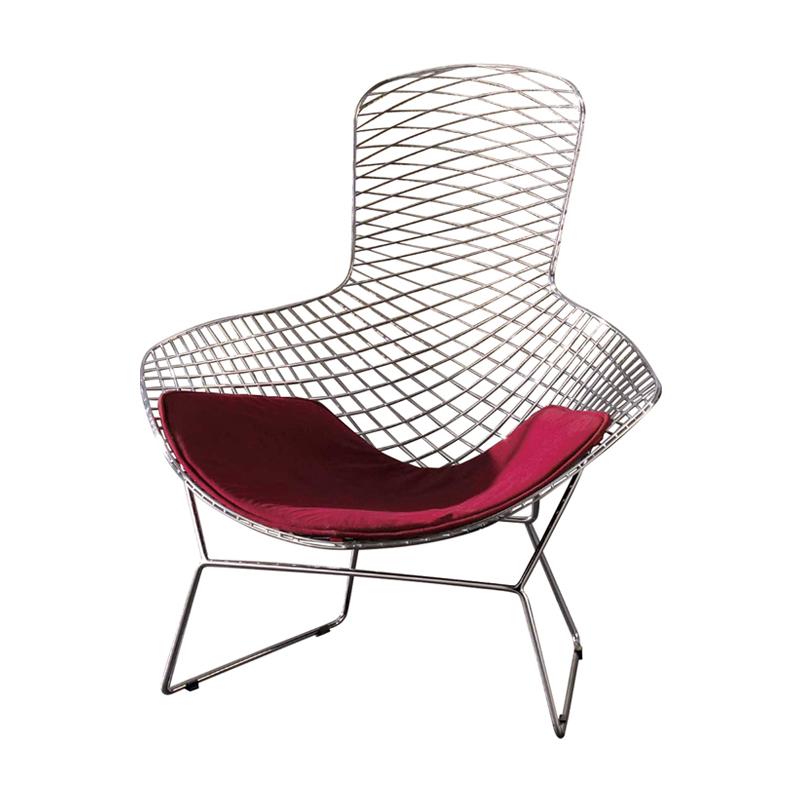 Special wire lounge chair backrest stylish modern European minimalist Ikea si