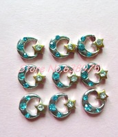 10pcs moon&star shape floating locket charms can fit floating locket .New style !!