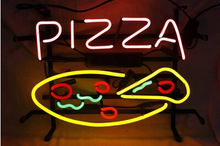 PIZZA Neon Light Signs air wall neon for pizza shop advertising 35*30cm(China (Mainland))