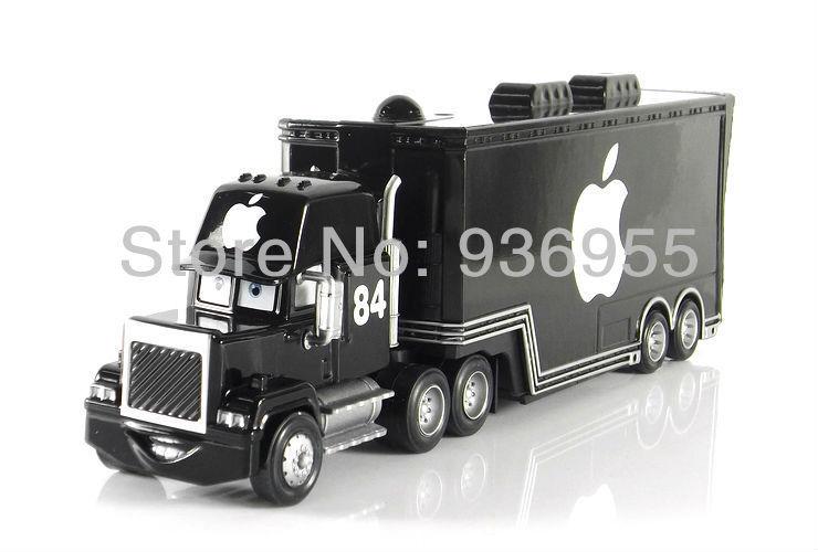 Free Shipping Pixar cars 2 Toy Apple Black Hauler Mack Cars Truck Diecast Metal KidsToys(China (Mainland))