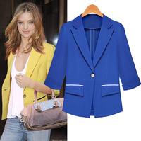 D13 New Fashion Women Autumn plus size S-XL Chiffon stylish comfortable Cloth jacket coat Blazers Slim Small Suit outwear jacket