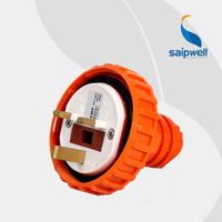 SAIPWELL 2014 New 4P 13A Coupler Electrical Socket IP66 Waterproof Industrial Socket