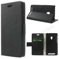 Free shipping 1pcs/tvc-mall Litchi Skin Leather Wallet Case w/ Stand for Asus Zenfone 4 A450CG