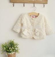 4pieces/lot , Children  cardigans / outerwear Baby Girls Bow Fur Jackets,  A-bg428