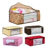 Hot NEW Bamboo Charcoal Clothes Blanket Folding Storage Organizer Box Bag Close
