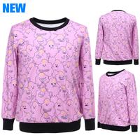 2014 Autumn Women Hoodies Printed Sport Suit Feminino Pullover Sweatshirt Casual Tracksuit