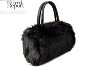GO FASHION Cute Imitation Rabbit Fur Shoulder Messenger Bag Birthday Gift  Handbag