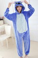 STITCH fleece pajamas unisex onesie pajamas ropmer sleep suit all in one animal onesies jumpsuit pajamas