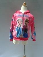 Frozen Hooded Coat ELSA ANNA Children Outerwear Frozen Hoodies Girls Sweatshirt 4pcs/Lot
