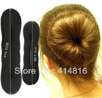 Wholesale 3pcs/lot Big Size Lovely Hair Sponge Hair Donut Bun Ring Maker Twist Tool Hair Decoration 22.5*5cm ej300004