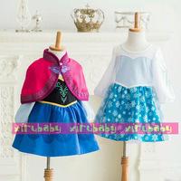 NEW Frozen Girls Frozen Dress Elsa & Anna High Quality Party Halloween Dress Christmas Kids Dress Children Clothing