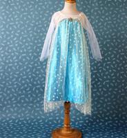 Frozen Elsa Dress Long Sleeves Baby Girls Dress Frozen for 2-7ages