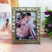 7 inch Sweet wedding photo frame metal vintage picture frame home decor Birthday gift Crafts