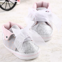 2014 New Style Baby Shoes Cute Girl Princess Toddler Shoes First Walkers Shoes Lace Bowknot Soft Bottom Shoes 1pcs free Shipping