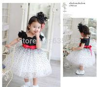 New 2014 Girls Dress Baby & Kids Girl Dress Casual Striped Lace Caual Tutu Dess Children Vestidos De Menina Dresses