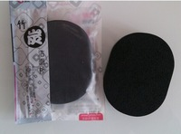 5pcs/lot 14mm Quality Natural Bamboo charcoal  Fiber Face Wash Cleansing Sponge Puff Robot