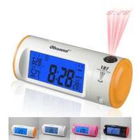 Fashion LED Degital Alarm Clock with Calendar temperature Voice Cortrol Projection Clock led clock Free Shipping