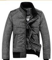 2014 New Fashion Stand Collar Winter Jacket Men Good Quality Jaquetas Masculinas Inverno zipper Men's Winter Jacket