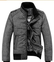 2014 New Fashion Stand Collar Winter Jacket Men Good Quality Jaquetas Masculinas Inverno zipper Men's Winter Jacket