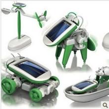 DIY Car CCTV Recommends 6 Piece Assembly Solar Toys Liuhe Toys Wholesale DIY Solar Car(China (Mainland))