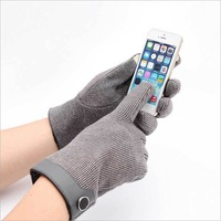 1 Pair Gray grid Spring Fall Winter Gloves Touchscreen Warmer Driver Black Bike Gloves High quality Gift