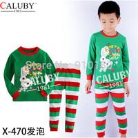 6 sets/lot baby boys girls Christmas frozen anna olaf 100% cotton pyjamas set kids pajamas sleepwear/new year nightgown