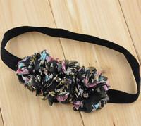 30pcs Floral Chiffon Pearl Flowers headbands free shipping U Pick Colors