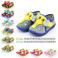 Baby First Walker Children's Canvas Shoes Fashion Sneakers for Kids Cartoon Elephant Rubber Tenis Infantil Boys Girls Footwear