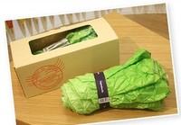 Free Shipping hot sale Fashion umbrella vegetable cabbage 3 folders umbrella