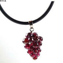 Natural garnet pendant small grape pendant+free shipping