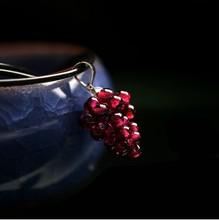 Natural garnet pendant small grape pendant free shipping