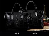 The new 2014 crocodile grain business mobile men's bags, men's single shoulder bag, inclined shoulder bag, leather briefcase