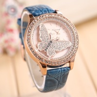 Ms butterfly diamond 2014 new watch Fashion ladies watch