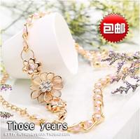 Free shipping flower decoration fashion metal rhinestone belt / female Korean wild thin belt