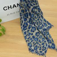 Spring fashion all-match leopard print 100% Women ultra long cotton scarf female cape dual-use sunscreen