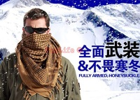 Military windproof Muslim Hijab Shemagh Tactical Desert Arabic Keffiyeh Scarf Cotton Thickened Scarves