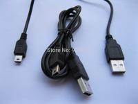 12 Pcs USB 4Pin Male to Mini USB 5pin Male Plug Cable Black Color 80cm 0.8m Long
