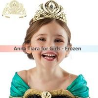 Retails!!!2014 frozen Elsa cosplay crown with diamond girls fashion queen crowns Tiaras