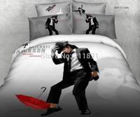 3d oil painting Michael Jackson bedding set queen size 4pcs quilt/comforter/duvet cover bedclothes bed sheet cotton home textile